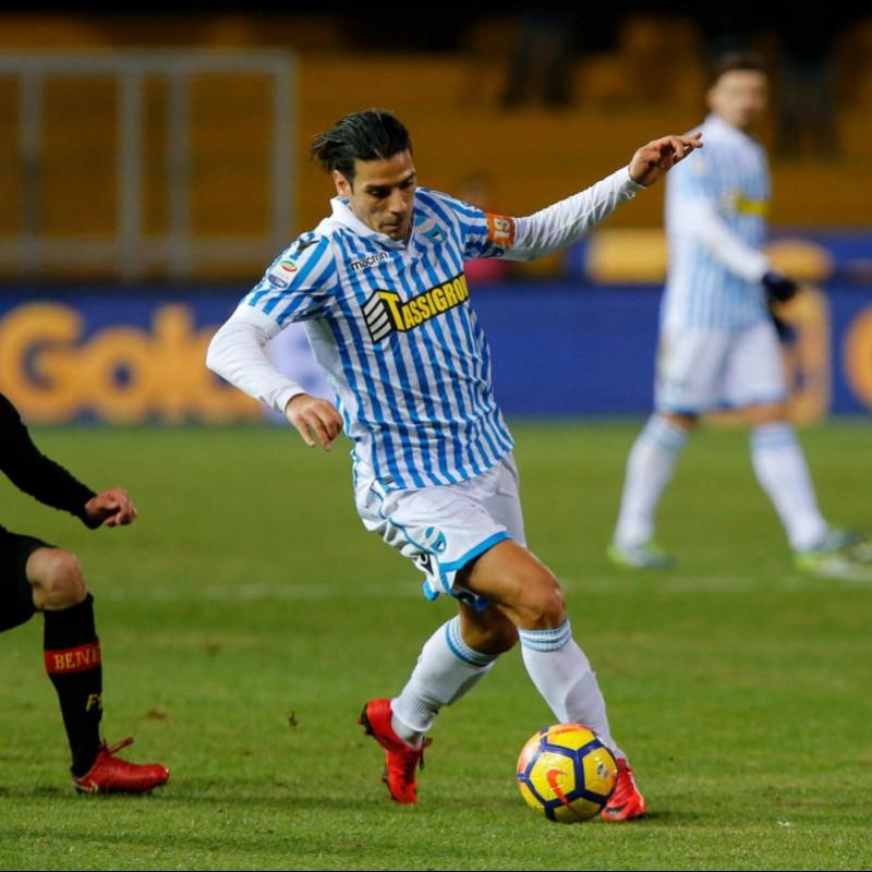 Floccari's Signed Match-Worn 2017 Benevento-Spal Shirt