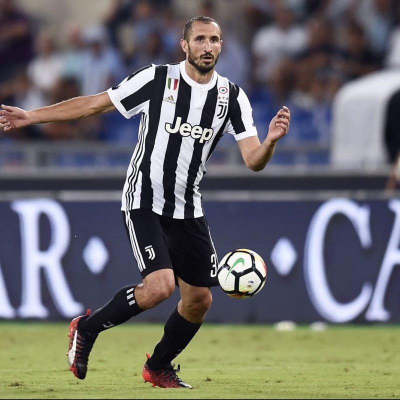 Chiellini's Signed Match-Issued 2017/18 Cleats