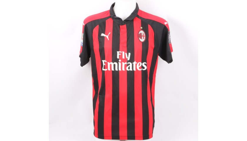 Piatek's Official Milan Shirt, 2018/19 - Signed