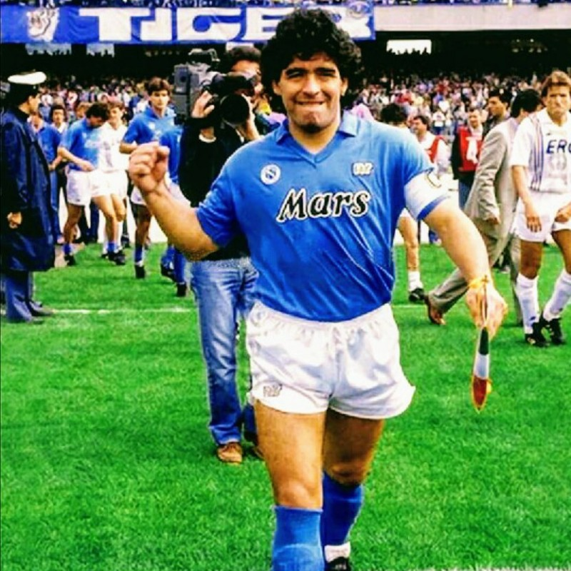 Maradona's Napoli Match-Issue/Worn Shirt, 1989/90 Season