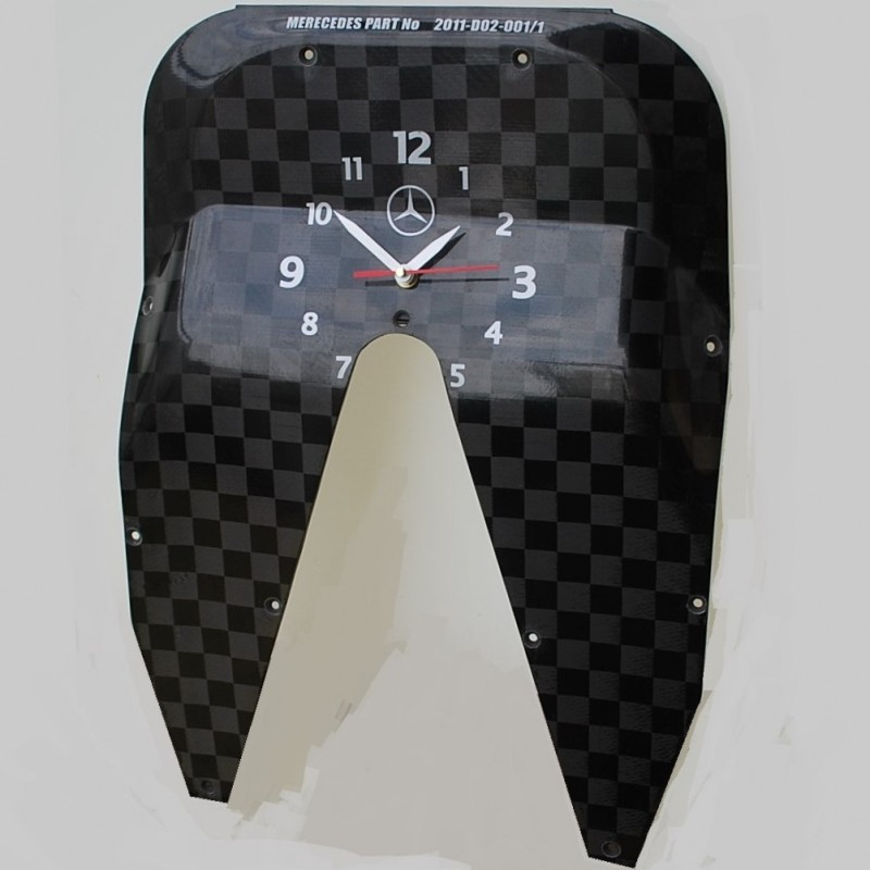 2011 F1 Mercedes W02 Tea Tray Clock