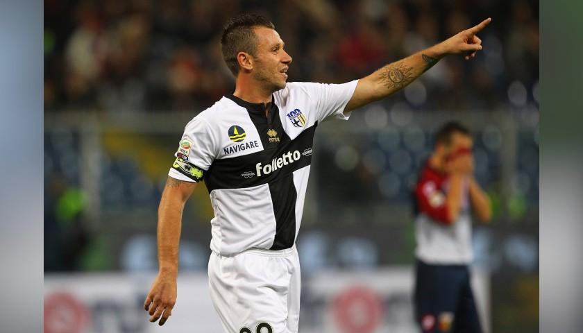 Cassano's Parma Match Shirt, 2013/14