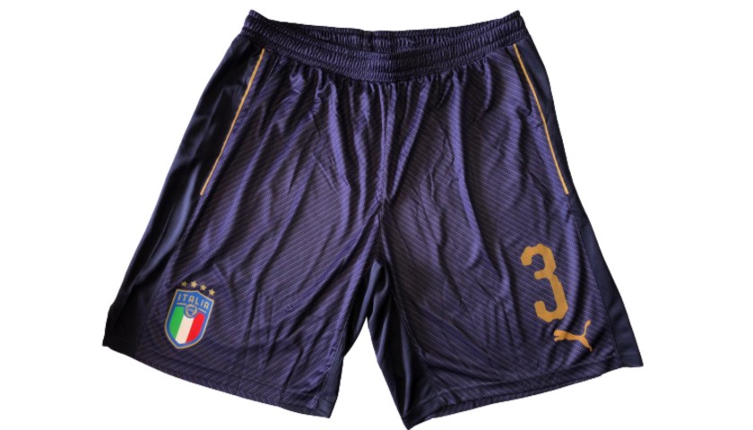 Chiellini's Match Shorts, Italy-Macedonia 2017