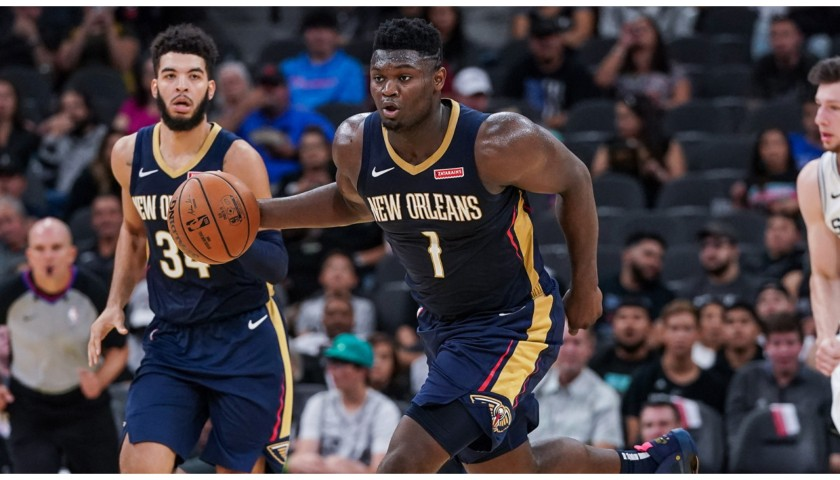 Zion Williamson Hand Signed NBA Basketball