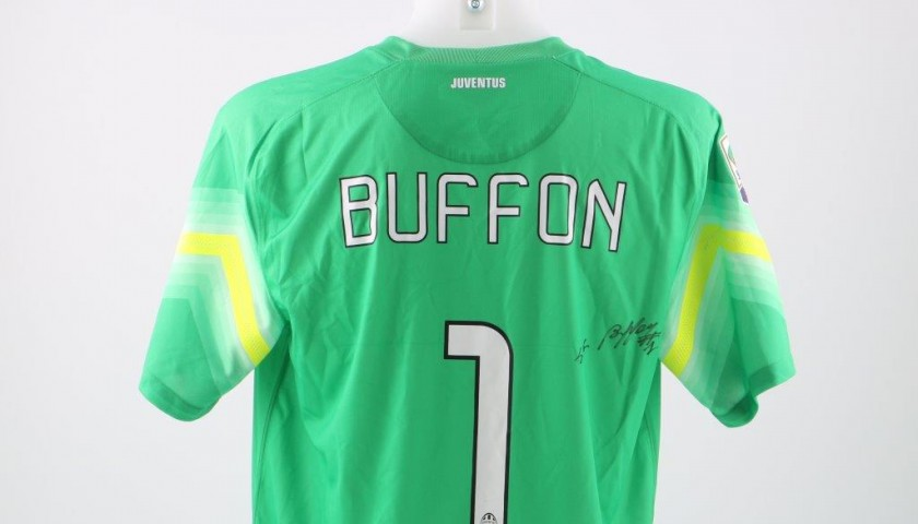 hot sale online f54af 683e3 Buffon Juventus official replica shirt, Serie A 2014/2015- signed -  CharityStars