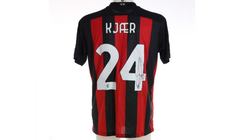 Kjaer's Worn and Signed Shirt, Milan-Inter 2021