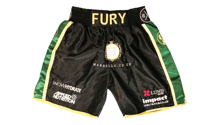 Boxing Shorts Signed by Tyson Fury