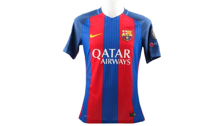 Iniesta's Barcelona Match-Issue/Worn Shirt, UCL 2016/17
