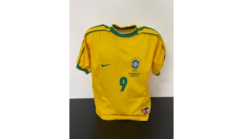 Ronaldo's Official Brazil Signed Shirt, 1998