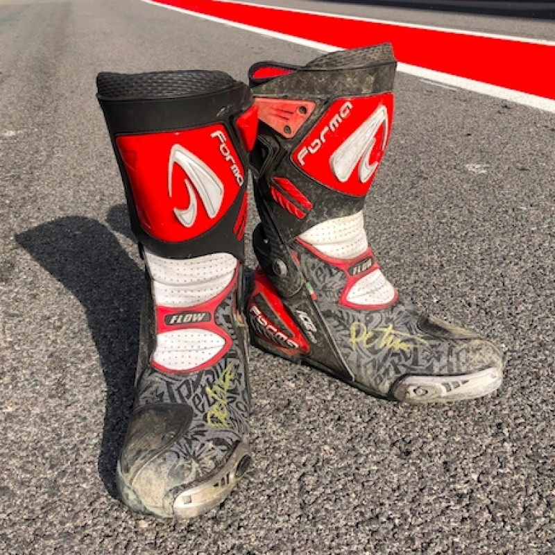 Signed Danilo Petrucci Boots from the Jerez Races