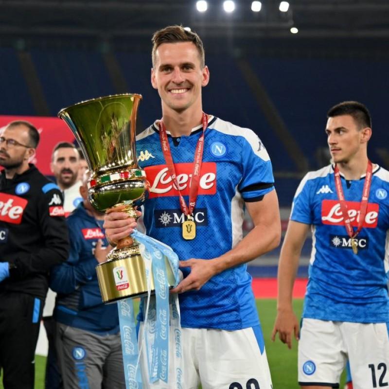 Milik's Napoli Match Signed Shirt, Coppa Italia 2020