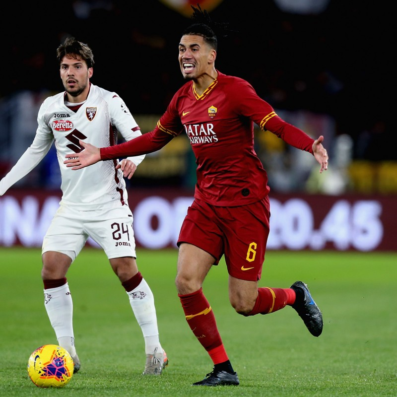 Smalling's Official Roma Signed Shirt, 2019/20