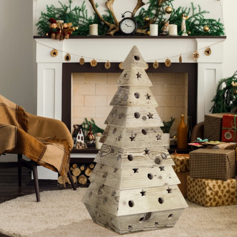 Wooden Christmas Tree by NOA Design