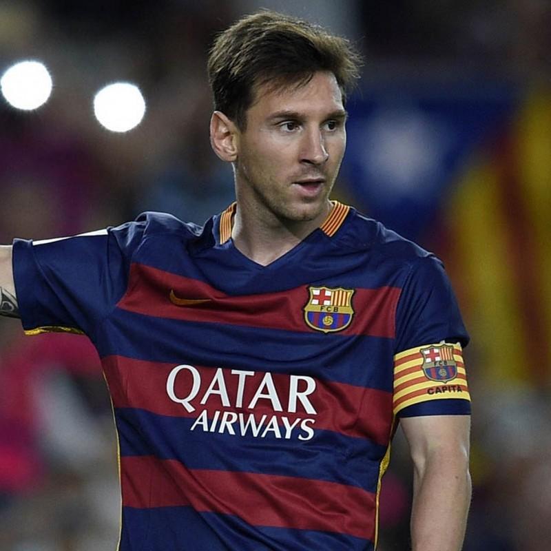 Messi's Signed Captain's Armband, 2015/16 Season