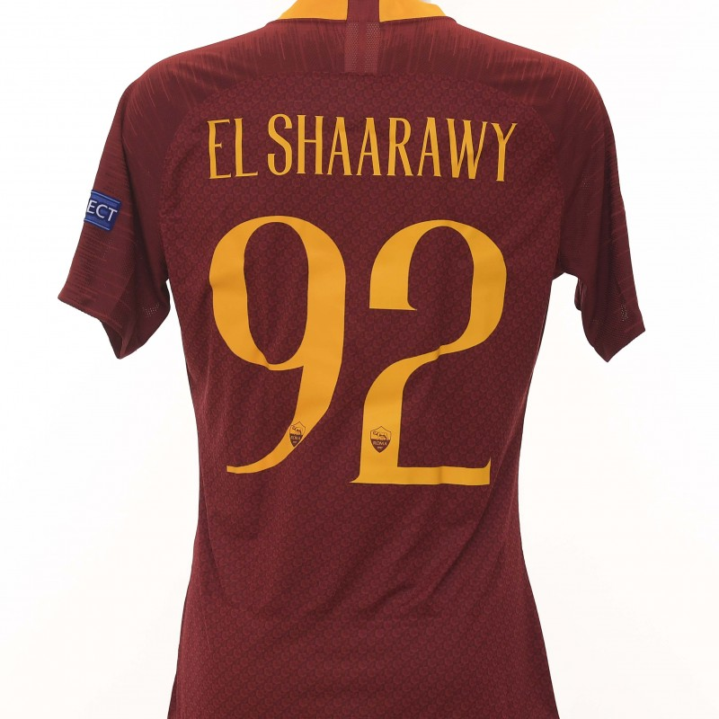 El Shaarawy's Match-Issue Shirt, Roma-Victoria Plzen CL 18/19