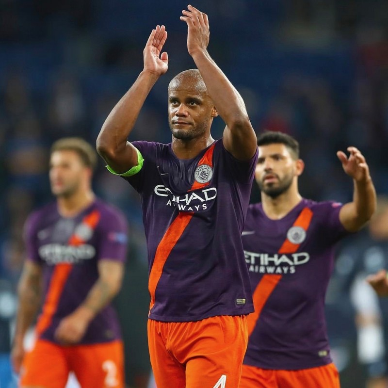 Kompany's Manchester City Match Shorts, Champions League 2018/19