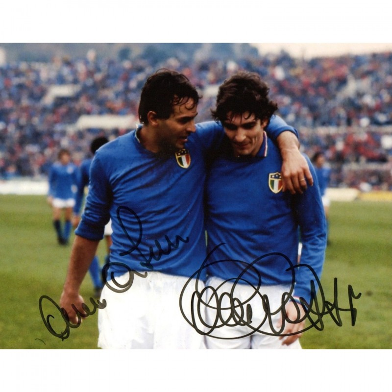 Photograph Signed by Paolo Rossi and Antonio Cabrini
