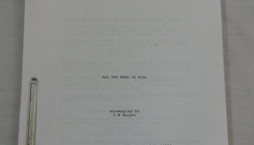 ff846fbf Edge of Tomorrow First Draft Production Script - CharityStars