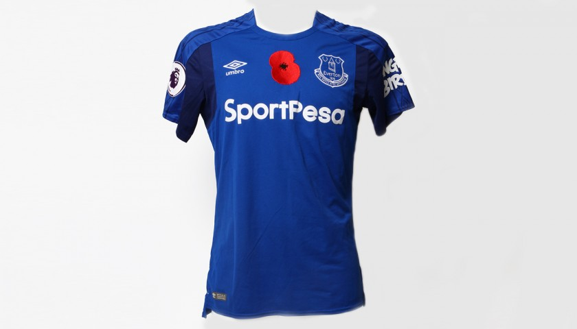 036f4133f5c Worn Poppy Home Game Shirt Signed by Everton FC s Jonjoe Kenny ...