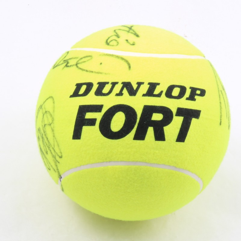 Maxi Tennis Ball Signed by the Internazionali BNL Champions