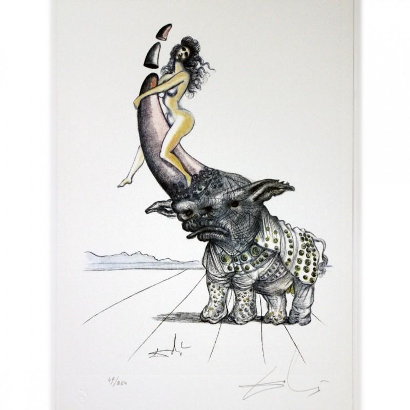 """Salvador Dalì illustre Casanova"" - Hand Signed Etching"