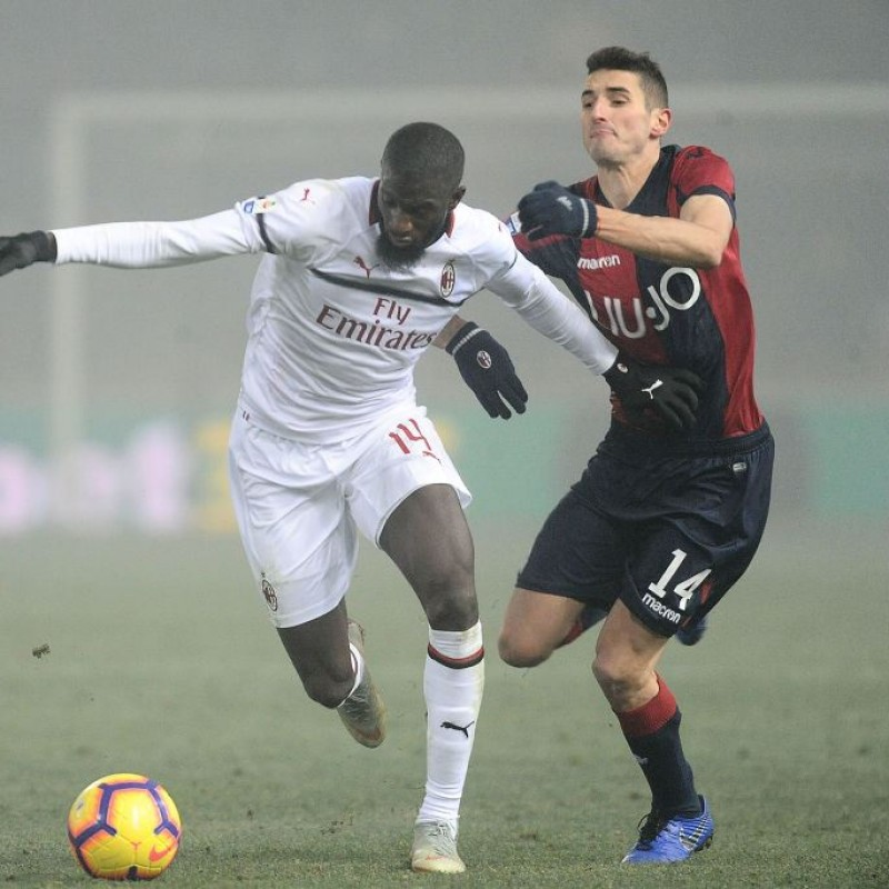 Mattiello's Worn and Unwashed Shirt, Bologna-Milan 2018