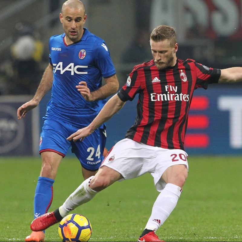 Abate's Signed Match-Issued 2017 Milan-Bologna Shirt