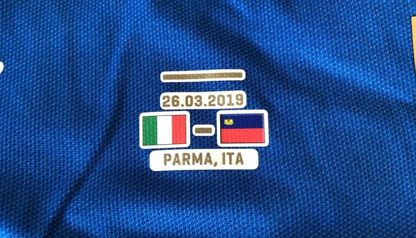 Zaniolo's Match Shirt, Italy-Liechtenstein 2019