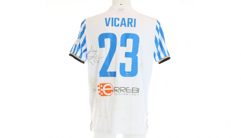 Vicari's Signed Shirt with Unicef Patch, Inter-Spal