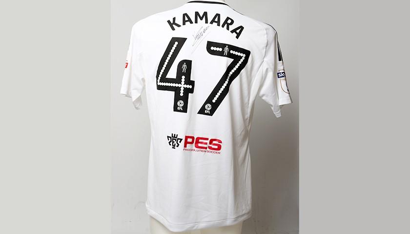 sports shoes e0997 69185 Poppy Shirt Signed by Fulham FC's Aboubakar Kamara - CharityStars