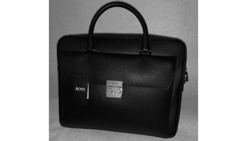 Hugo Boss Men s Briefcase - CharityStars 1043b55580e3c