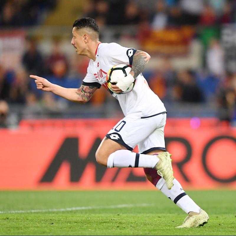 Lapadula's Signed Match-Worn 2018 Roma-Genoa Shirt