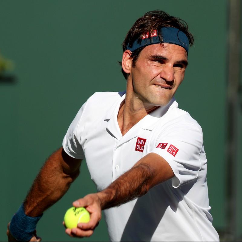 Dunlop Tennis Ball Signed by Roger Federer