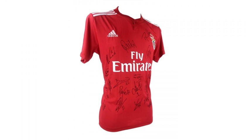 the best attitude 01a86 e2494 Official Benfica 2018/19 Shirt - Signed by the Squad - CharityStars