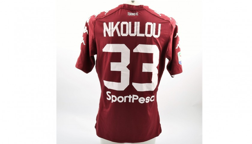 Nkoulou's Match-Issued Torino-Benevento Shirt with Special Patch