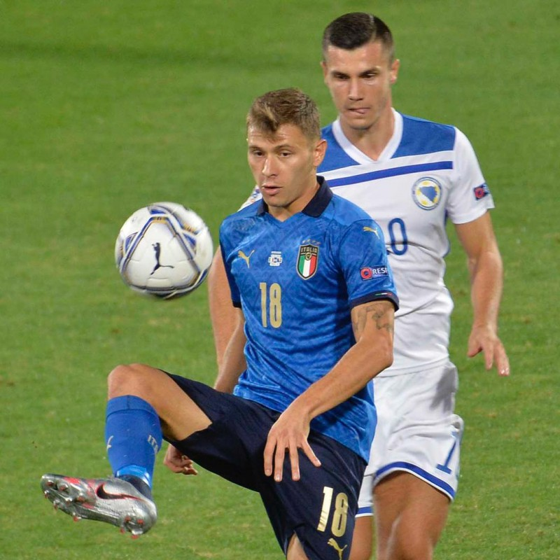 Barella's Match Shorts, Italy-Bosnia 2020