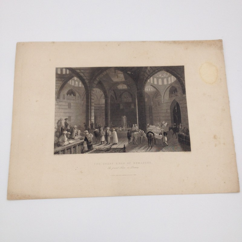 1843 Print - The Great Khan at Damascus