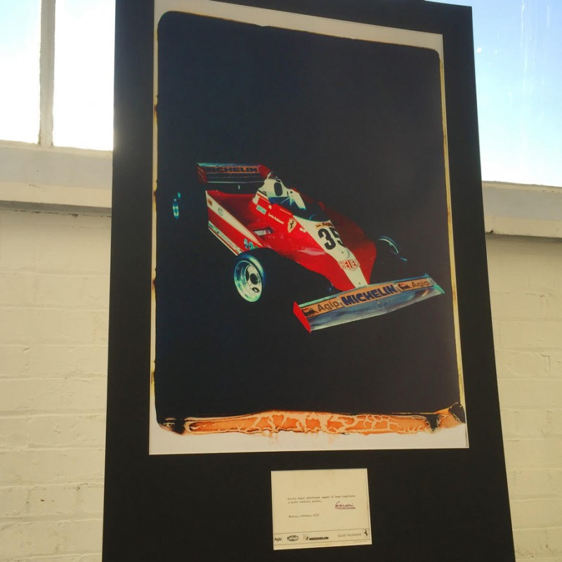 Ferrari 312T3 of Gilles Villeneuve Polaroid & Enzo Ferrari Hand-Signed Card - Only 1 In The World