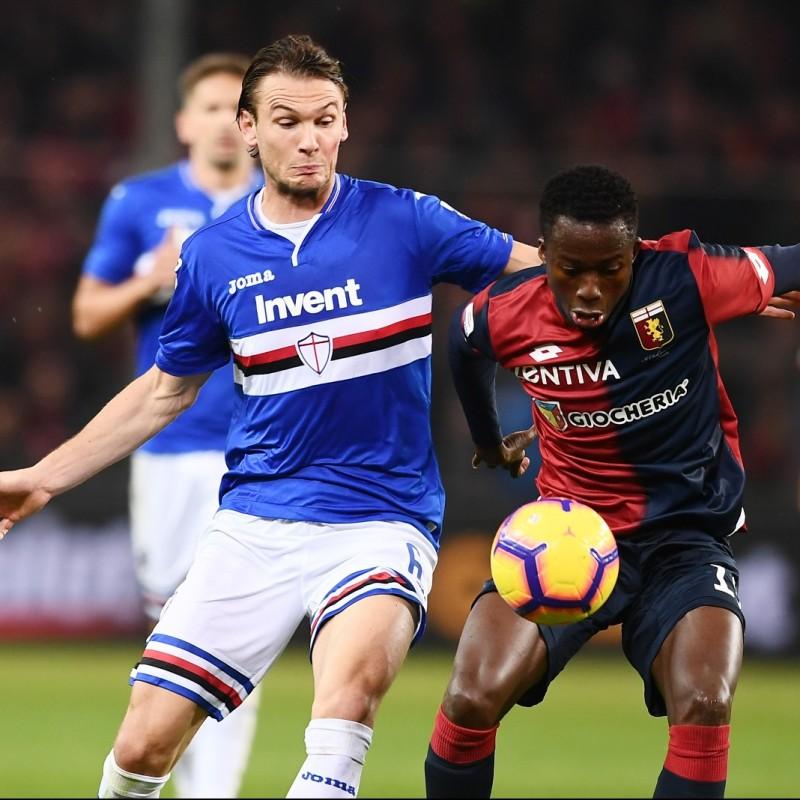 Ekdal's Sampdoria Match-Issue Signed Shirt, 2018/19