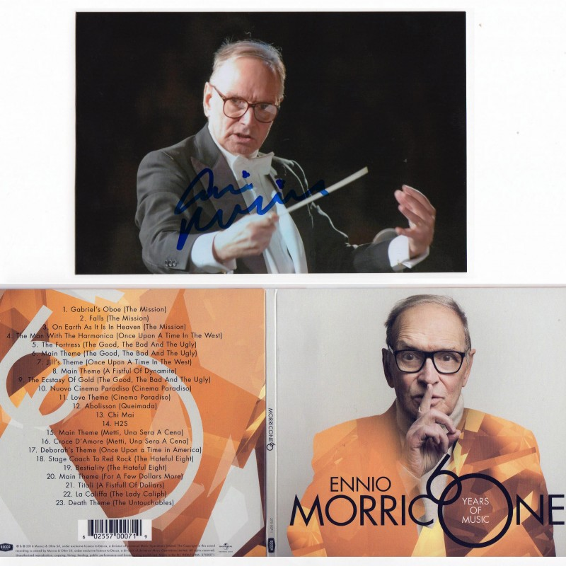 Ennio Morricone signed picture