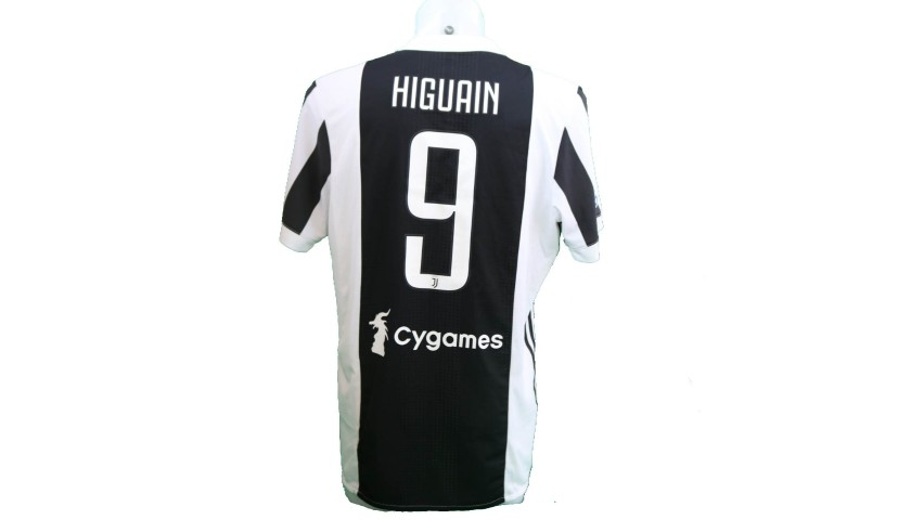 Higuain's Match-Issue/Worn Shirt with 120 Patch, Juventus-Bologna ...