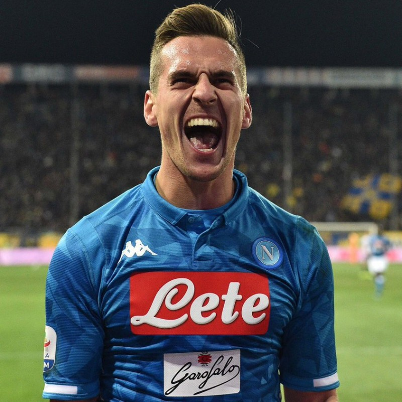 Milik's Napoli Signed Match Shirt, 2018/19