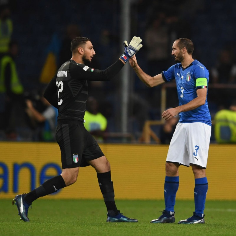 Donnarumma's Match Shorts, Italy-Ukraine 2018