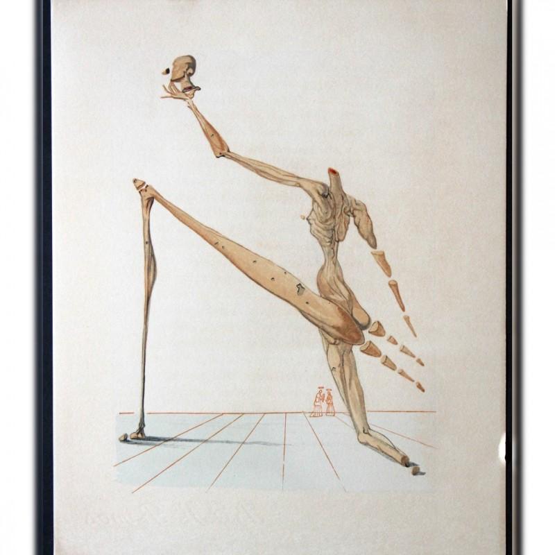 "Original Board by Salvador Dalì - ""Bertram dal Bornio"" Inferno Canto VII"