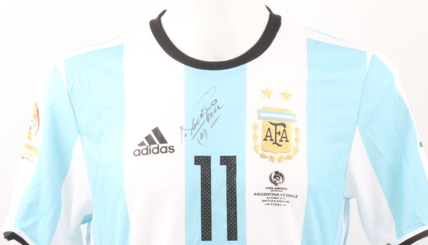 official photos 30576 993f5 Aguero Match issued/worn Shirt, Copa America Final 2016 - Signed -  CharityStars