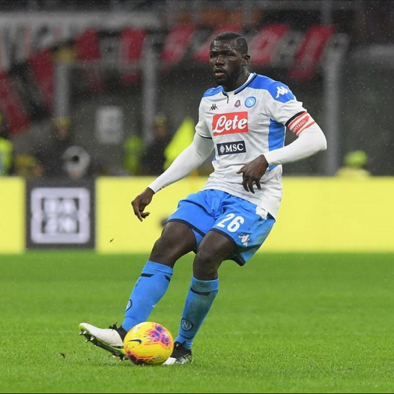 Koulibaly's Napoli Match Worn and Signed Shirt, 2019/20
