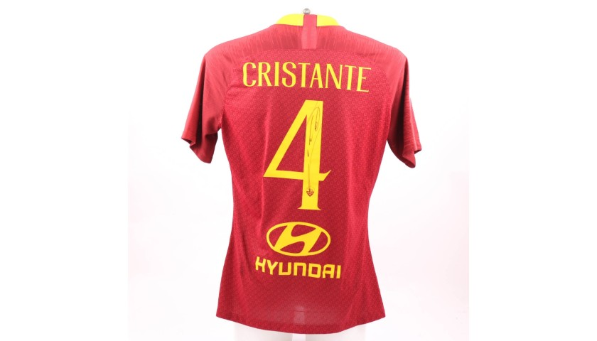 Cristante's Worn and Signed Shirt, Roma-Genoa 2018