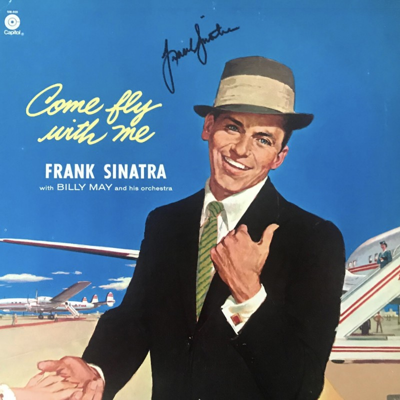 Frank Sinatra Signed Come Fly With Me Vinyl LP