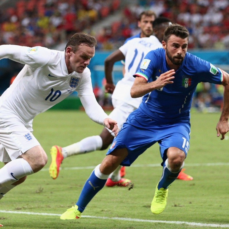 Barzagli's Italy Match-Issue/Worn Shirt, World Cup 2014