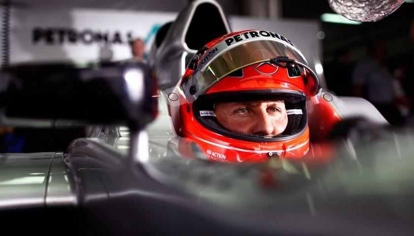 Michael Schumacher's Mercedes Signed Replica Helmet